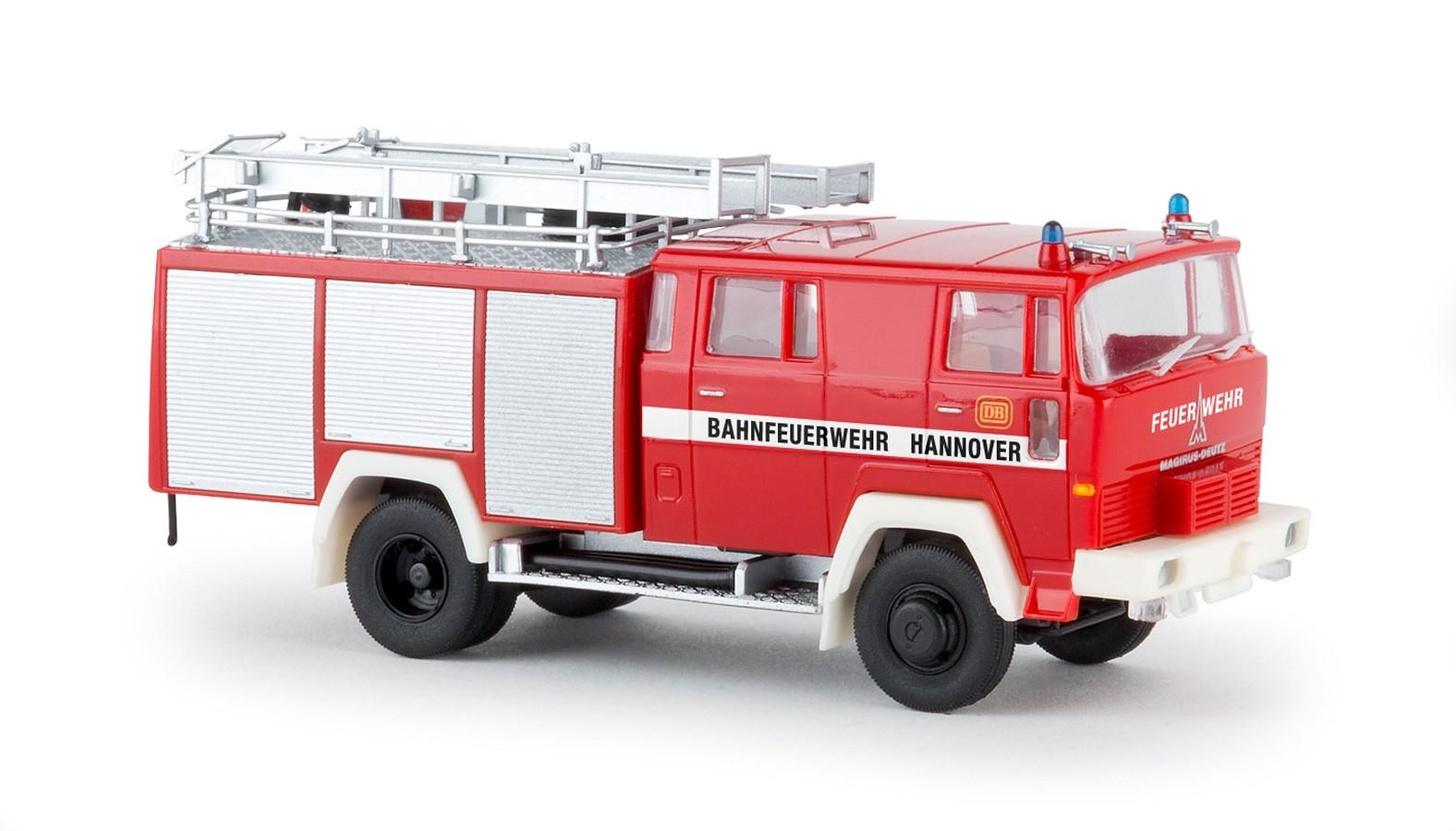 "Brekina / Heico Magirus D LF16 TS ""Bahnfeuerwehr Hannover"""