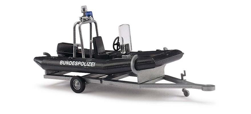 Busch Anhänger mit Motorboot Bundespolizei