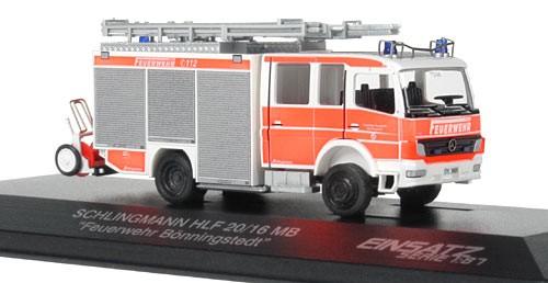 Rietze Einsatz-Serie MB Atego HLF 20/16 Feuerwehr Bönningstedt