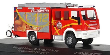 Rietze Einsatz Serie IVECO AluFire 3 HLF 20/16 Feuerwehr Pürgen