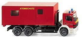 Wiking MB Atego Abrollbehälter  Atemschutz Feuerwehr  -Restmenge-