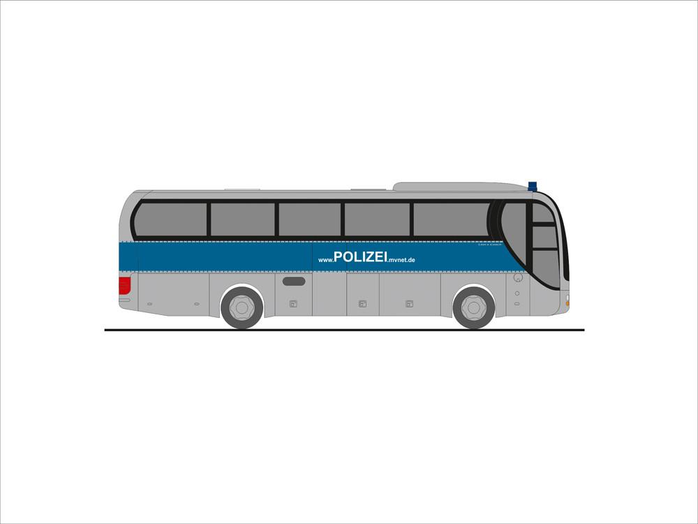 Rietze MAN Lion`s Coach`15 Polizei MVP, NH 09-10/19, (Vorbestellung / Modell noch nicht lieferbar !!!)
