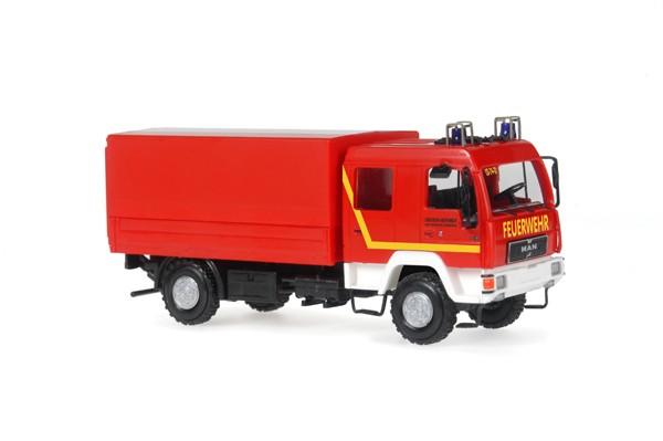Rietze MAN L 2000 DEKON-P Feuerwehr Rendsburg-ECK, NH 09.-10./16, ( Vorbestellung / Modell noch nicht lieferbar !!!)