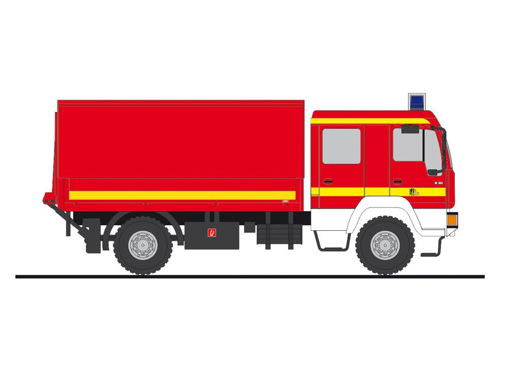 Rietze MAN L2000 DEKON-P Feuerwehr Dresden-Gorbitz, NH 01-02/19,(Vorbestellung / Modell noch nicht lieferbar !!)