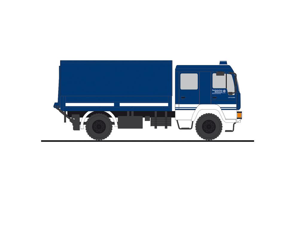 """Rietze MAN L 2000 """" DEKON-P THW OV Bocholt """", NH 07-08/20,(Vorbestellung / Modell noch nicht lieferbar !!!)"""
