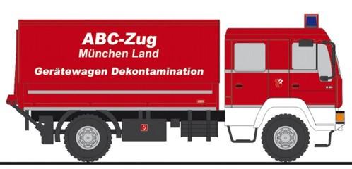 """Rietze MAN L 2000 """" DEKON-P Feuerwehr München Land """", NH Frühjahr 20,(Vorbestellung / Modell noch nicht lieferbar !!!)"""