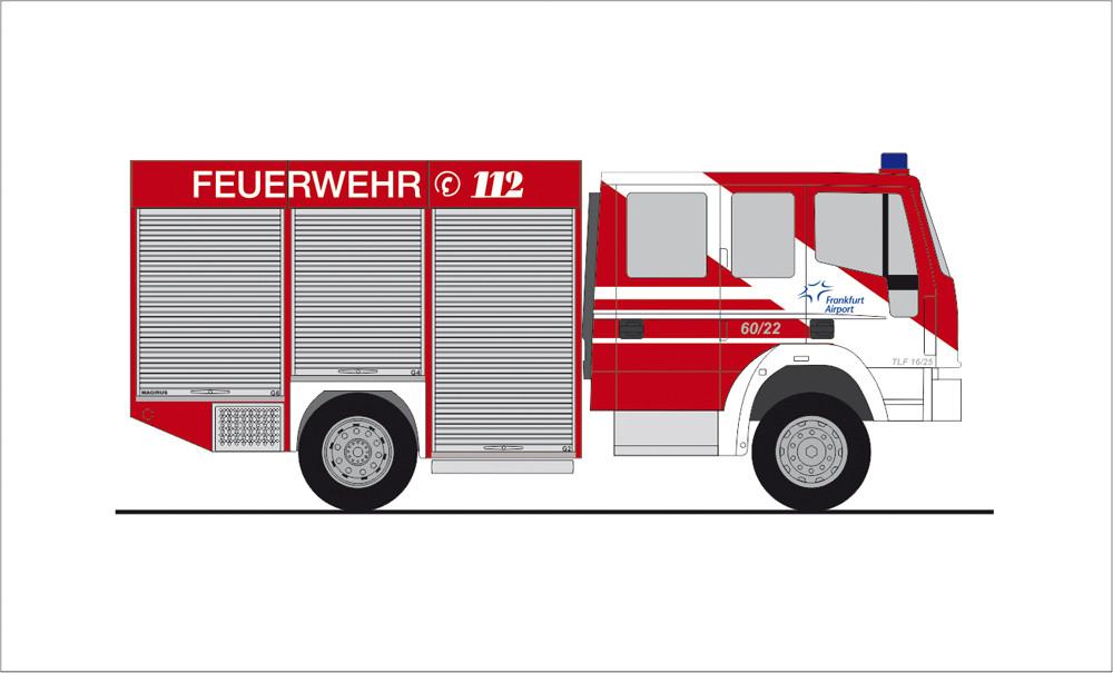 Rietze IVECO Eurofire Feuerwehr Flughafen Frankfurt (FRAPORT), NH 11-12/19