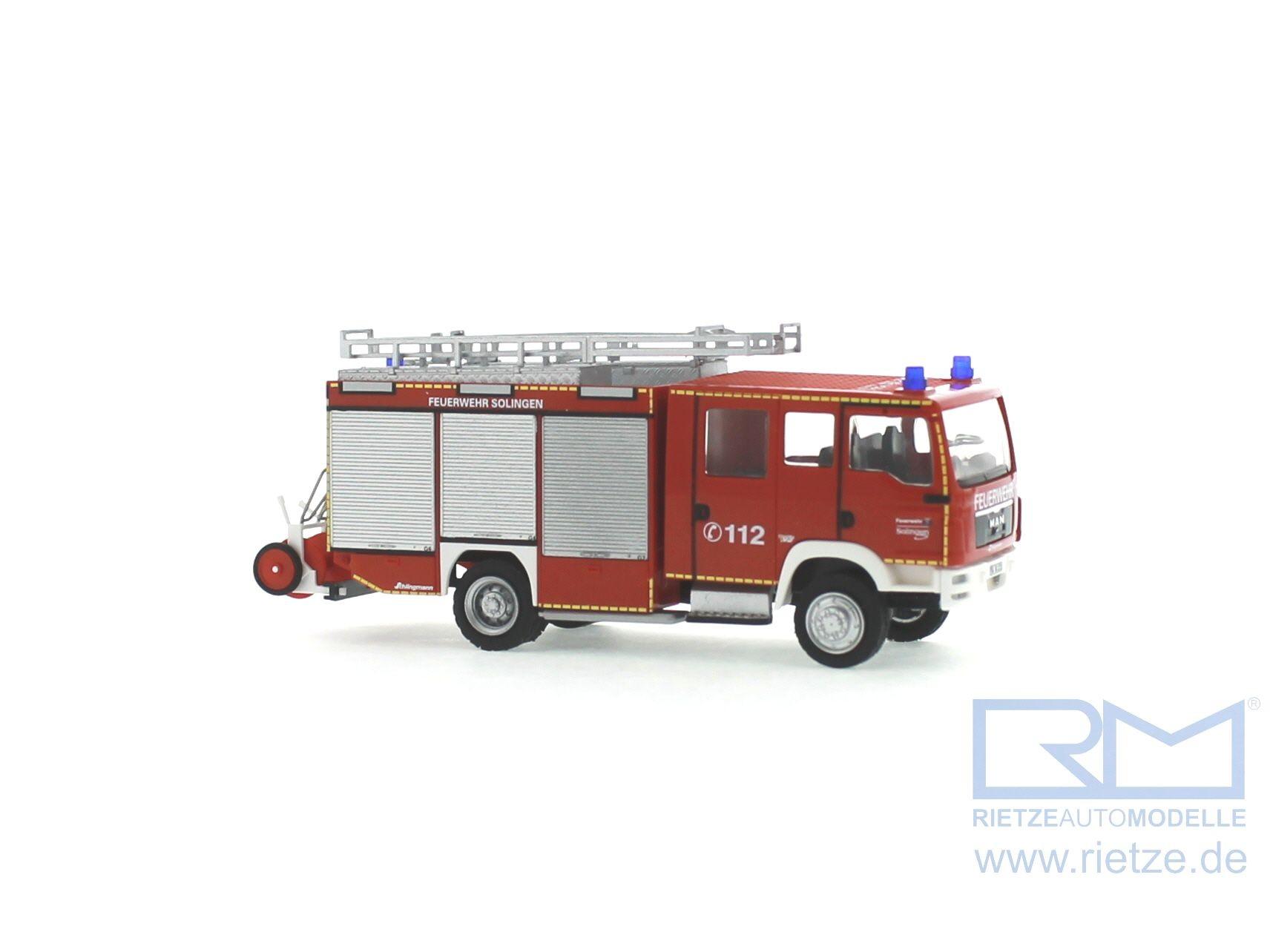 Rietze MAN TGM FL LF 20 KatS Feuerwehr Solingen ( Sondermodell )