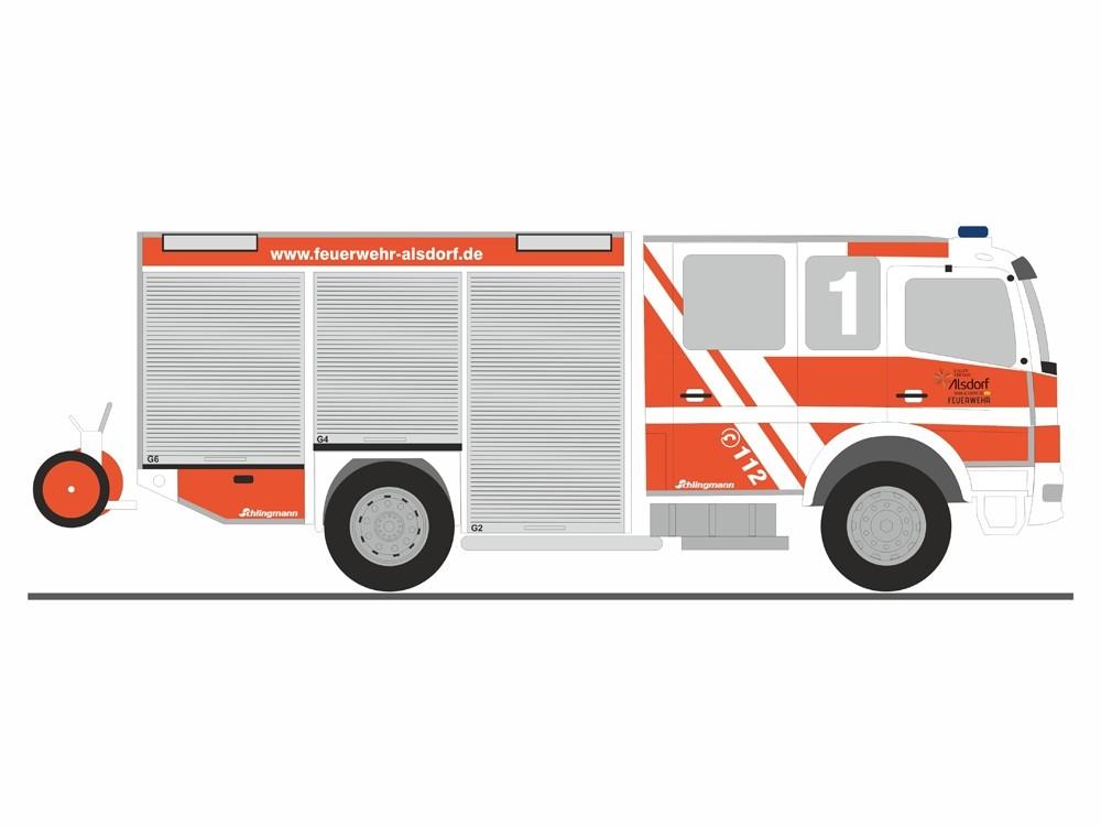 Rietze MB Atego 10 HLF 20 Feuerwehr Alsdorf, NH 09-10/18