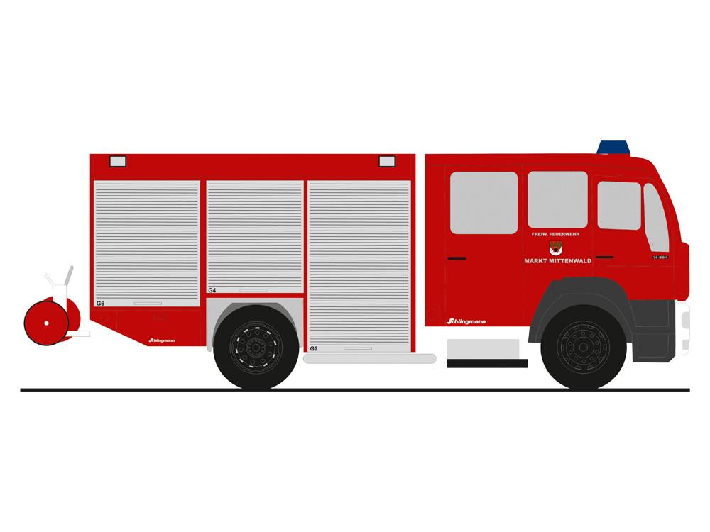 Rietze MAN LE 2000 HLF 16 Feuerwehr Mittenwald, NH 03-04/19