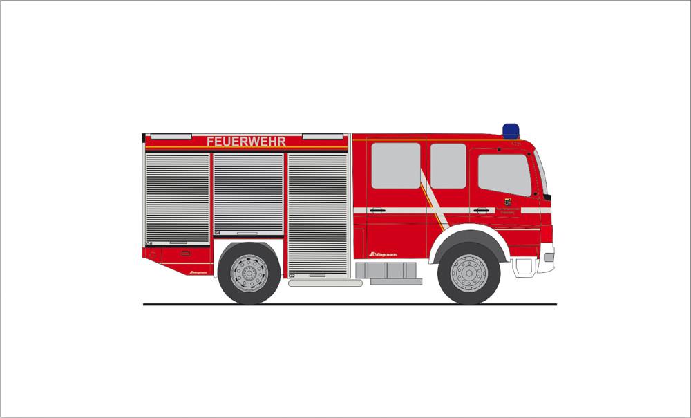 Rietze Einsatz-Serie MB Atego HLF Feuerwehr Flensburg, NH 11-12/19