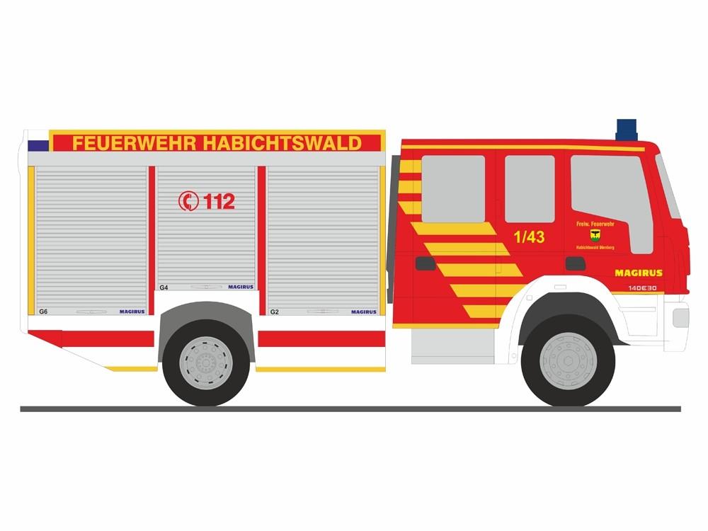 Rietze IVECO AluFire 10 HLF 10 Feuerwehr Habichtswald, NH 09-10/18