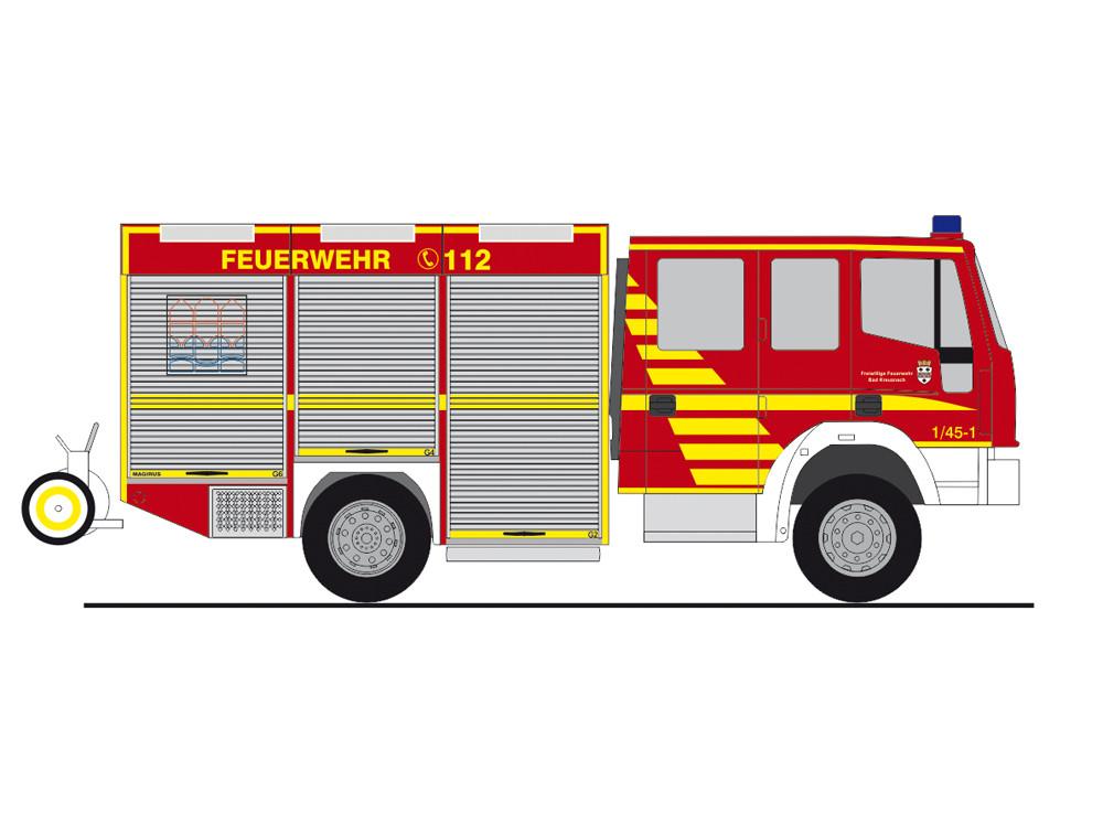 Rietze Einsatz-Serie Magirus EuroFire LF Feuerwehr Bad Kreuznach, NH 01-02/19