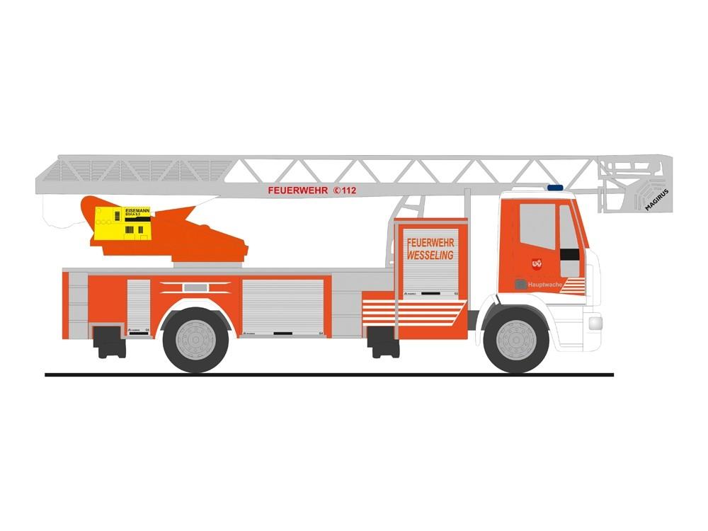 Rietze Einsatz-Serie IVECO DLK 32 Feuerwehr Wesseling,NH 11-12/18, (Vorbestellung/Modell noch nicht lieferbar !!!)
