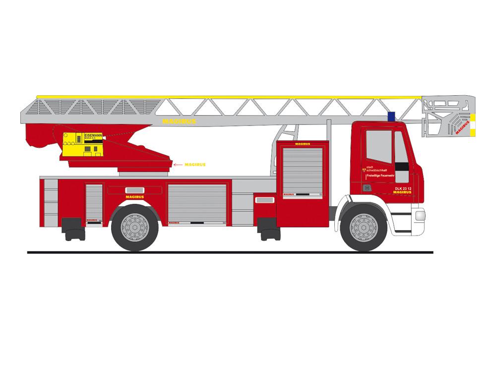 Rietze IVECO DLK L32 Feuerwehr Schwäbisch-Hall, NH 01-02/19;(Vorbestellung / Modell noch nicht lieferbar !!)