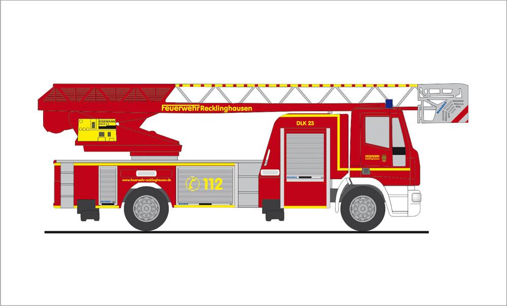 Rietze IVECO DLK Feuerwehr Recklinghausen, NH 11-12/19