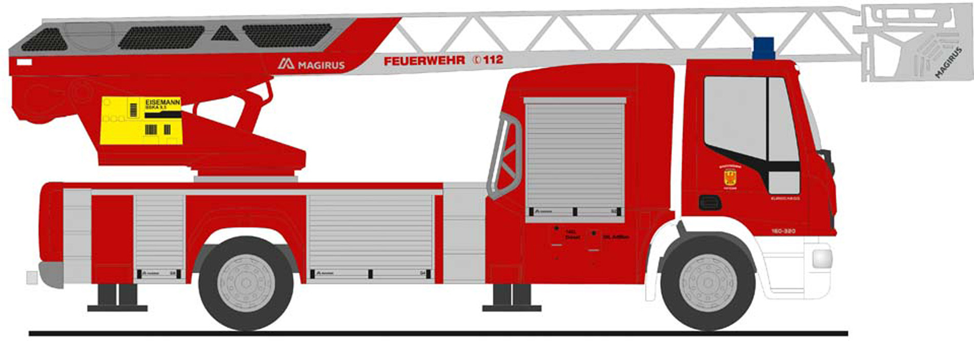 """Rietze IVECO DLK L32 `18 """" Feuerwehr Potsdam """", NH Herbst 2020,(Vorbestellung / Modell noch nicht lieferbar !!!)"""