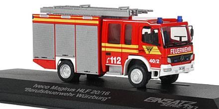 Rietze Einsatz Serie MB Atego / Lohr HLF 20/16 BF Würzburg