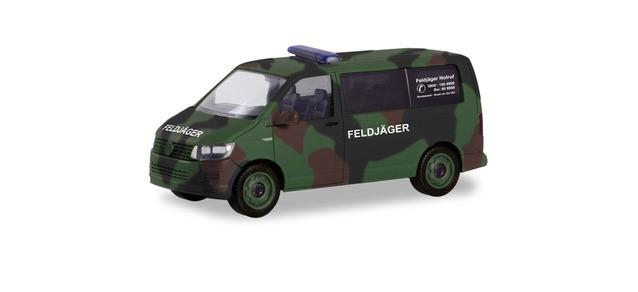 """Herpa VW T6 Bus """"BW Feldjäger in Fleckentarn"""", NH 11-12/19,(Vorbestellung / Modell noch nicht lieferbar !!!)"""