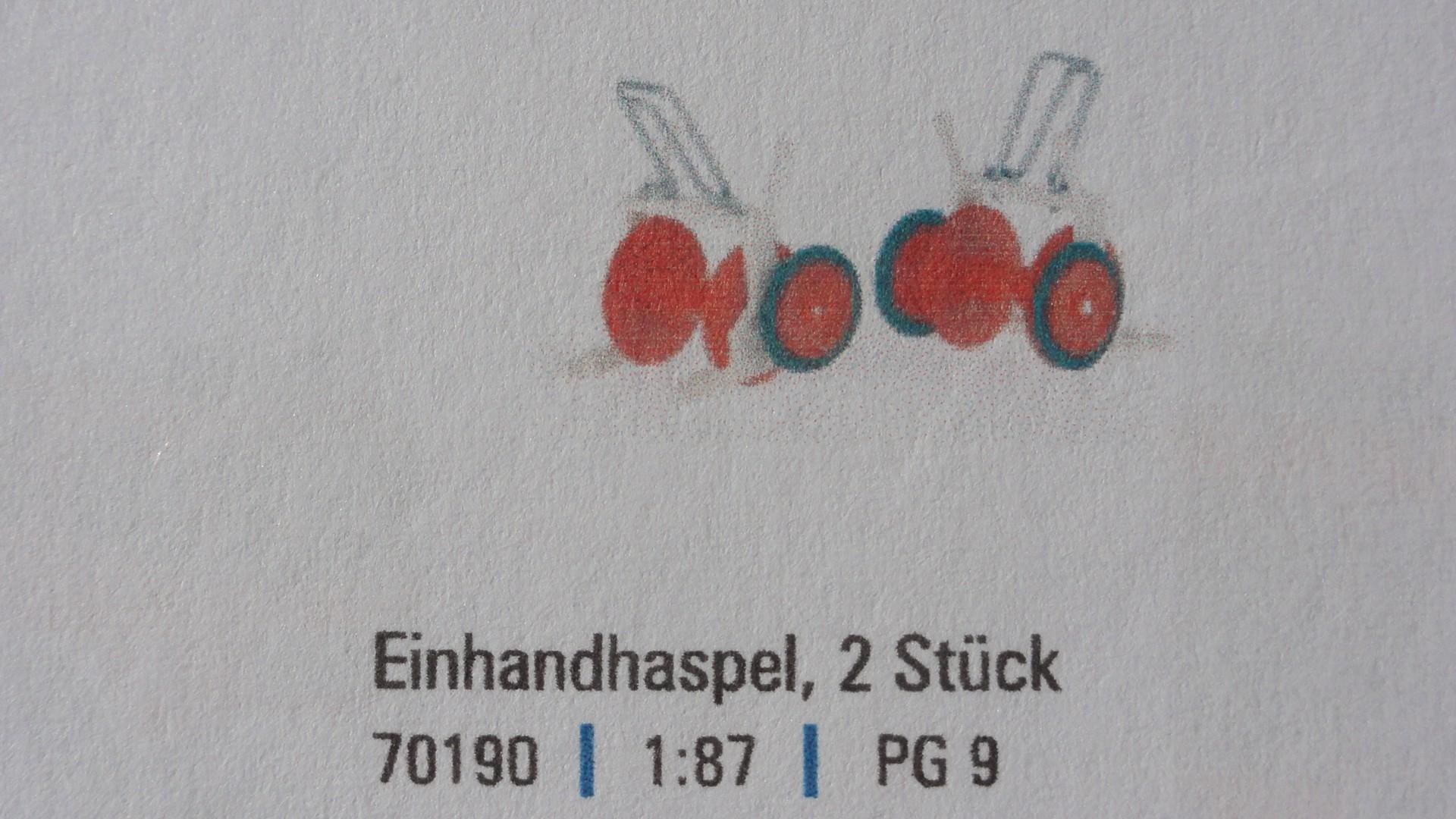 Einhandhaspel, 2 Stück -Einzelstück-