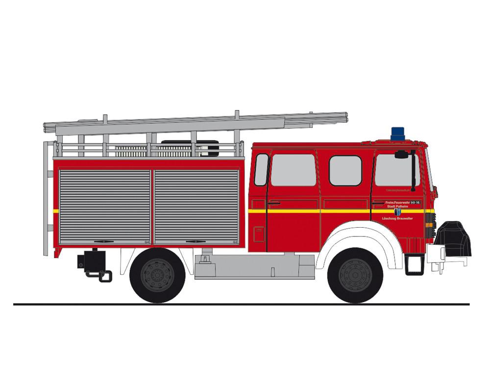 Rietze Magirus MK LF 16-TS Feuerwehr Pulheim, NH 01-02/19,(Vorbestellung / Modell noch nicht lieferbar !!)