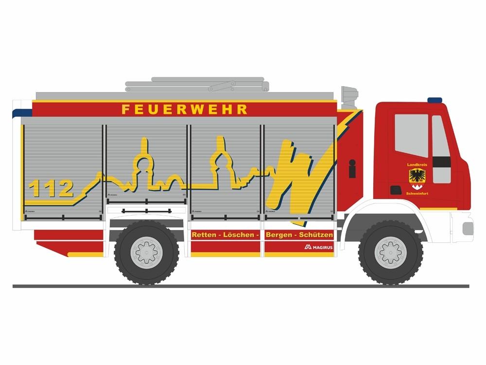 Rietze Magirus AluFire RW Feuerwehr Werneck, NH 09-10/18