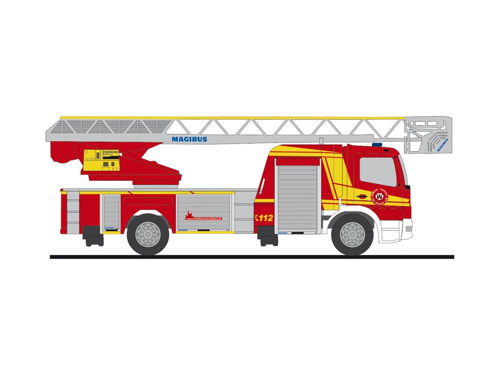 """Rietze MB Atego DLK 32 """" Feuerwehr Weilheim """", NH 05-06/20,(Vorbestellung / Modell noch nicht lieferbar !!!)"""