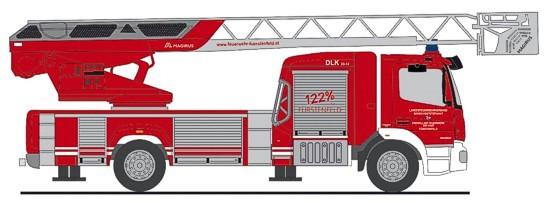 """Rietze MB Atego 19 """" DLK Feuerwehr Fürstenfeld """", NH Frühjahr 20,(Vorbestellung / Modell noch nicht lieferbar !!!)"""