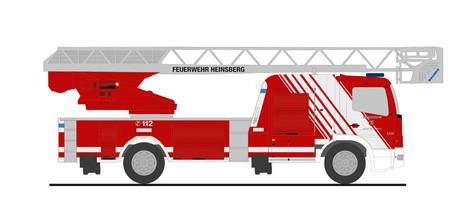 """Rietze MB Atego DLK L32 """" Feuerwehr Heinsberg """", NH 11-12/20,(Vorbestellung / Modell noch nicht lieferbar !!!)"""