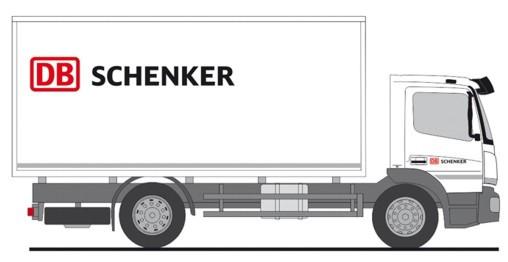 """Rietze MB Atego 19 """" Koffer LKW Schenker """", NH Frühjahr 20,(Vorbestellung / Modell noch nicht lieferbar !!!)"""