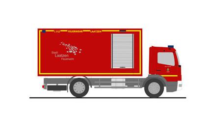 """Rietze MB Atego `10 """" Feuerwehr Laatzen GW-L """", NH 11-12/20,(Vorbestellung / Modell noch nicht lieferbar !!!)"""