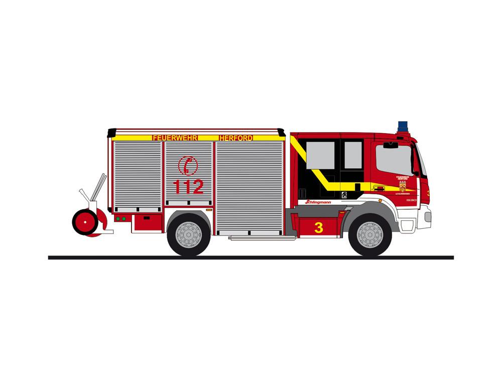 """Rietze MB Atego Varus HLF """" Feuerwehr Herford """", NH 05-06/20,(Vorbestellung / Modell noch nicht lieferbar !!!)"""