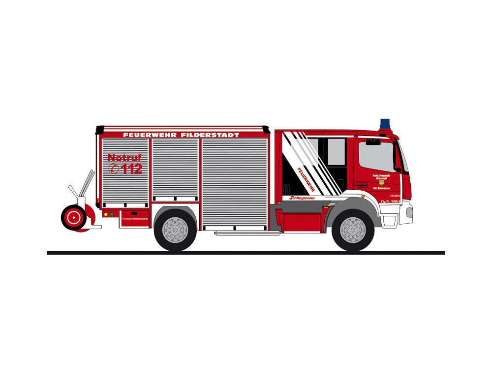 """Rietze MB Atego Varus HLF """" Feuerwehr Filderstadt """", NH 05-06/20,(Vorbestellung / Modell noch nicht lieferbar !!!)"""