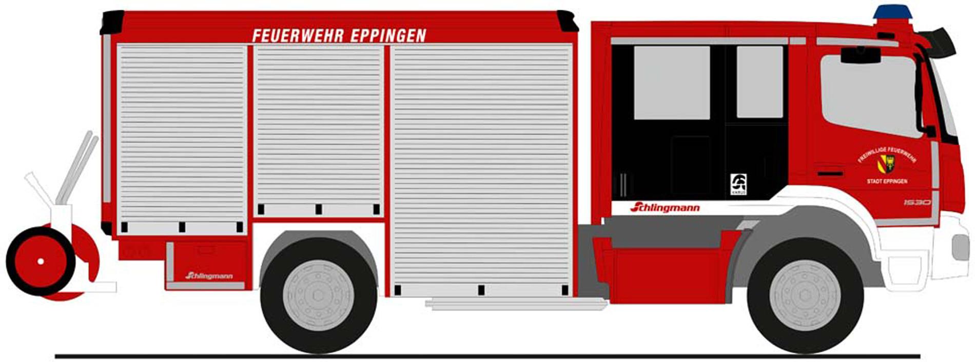 """Rietze MB Atego Varus """" Feuerwehr Eppingen """", NH Herbst 2020,(Vorbestellung / Modell noch nicht lieferbar !!!)"""