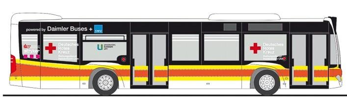 """Rietze MB Citaro`15 """" DRK Ulm Intensivtransport """", NH Frühjahr 20,(Vorbestellung / Modell noch nicht lieferbar !!!)"""