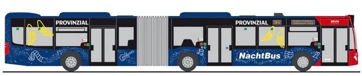 """Rietze MB Citaro G`15 """" RVM Münster Nachtbus """", NH Frühjahr 20,(Vorbestellung / Modell noch nicht lieferbar !!!)"""