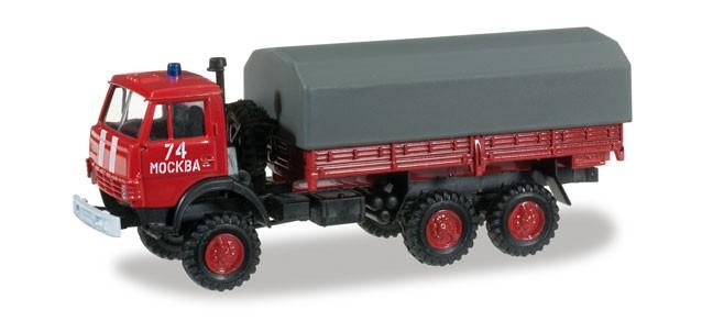 Herpa Minitanks Kamaz 5320 Planen LKW Feuerwehr,