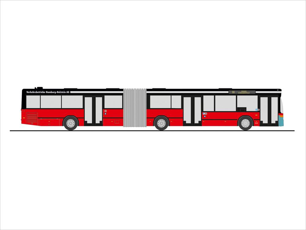 Rietze MB O 405 GN2 Stadtwerke Neumünster - VHH, NH 09-10/19, (Vorbestellung / Modell noch nicht lieferbar !!!)