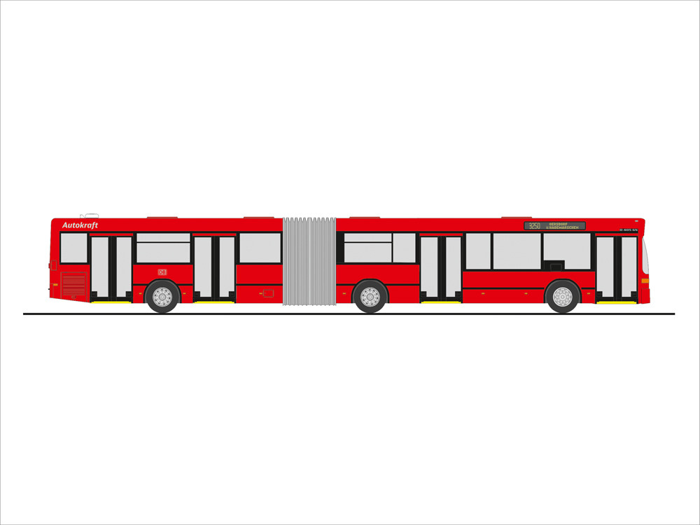 Rietze Bahn Edition MB O 405 GN2  DB - Autokraft, NH 09-10/19, (Vorbestellung / Modell noch nicht lieferbar !!!)