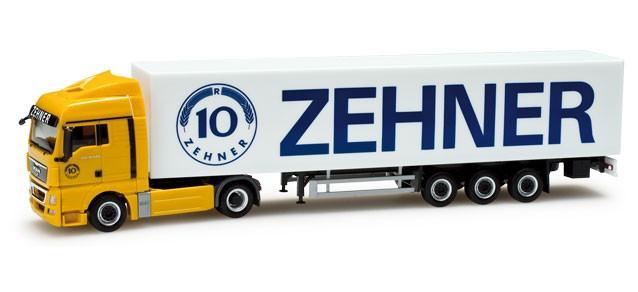 """Herpa MAN TGX XLX Koffer-Sattelzug """"Zehner"""" -Einzelstück-"""