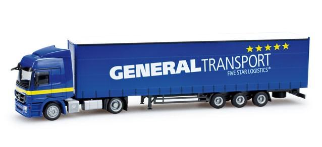 "Herpa  MB Actros L Lowliner-Sattelzug ""General Transport"" -Einzelstück-"