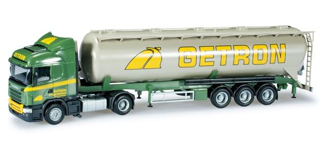 "Herpa Scania R HL Silo-Sattelzug ""Getron"" (NL) -Einzelstück-"