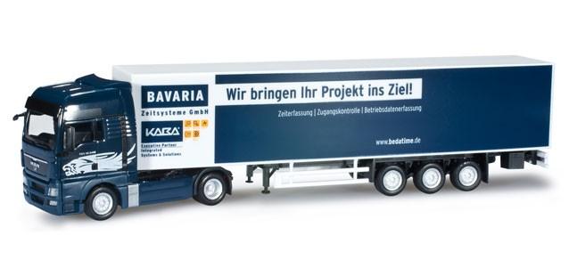 """Herpa MAN TGX XXL Koffer-Sattelzug """"Bavaria"""" -Einzelstück-"""