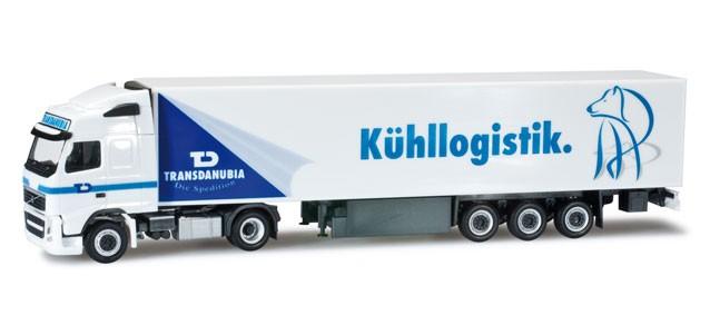 """Herpa Volvo FH Gl. Kühlkoffer-Sattelzug """"Transdanubia"""" -Einzelstück-"""