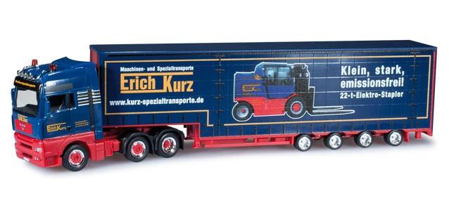 """Herpa  MAN TGA XXL Gardinenplanen-Sattelzug """"Kurz""""-Einzelstück-"""