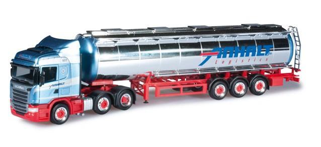 """Herpa Scania R Highline Chromtank-Sattelzug """"Spedition Anhalt"""" -Einzelstück-"""