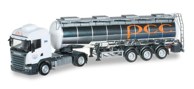 "Herpa Scania R 2013 HL Chemietank-Sattelzug ""PCC"" -Einzelstück-"