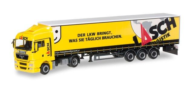 Herpa MAN TGX XLX Sattelzug Lasch Logistik (Einzelstück)