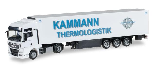 "Herpa MAN TGX XXL Euro6 Kühlkoffer-Sattelzug ""Kammann"" -Einzelstück-"