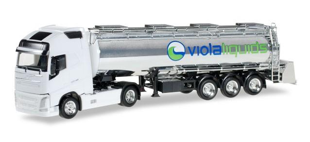 """Herpa Volvo FH GL XL Lebensmitteltank-Sattelzug """"Viola Trans"""" -Einzelstück-"""